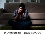 young man in agony having... | Shutterstock . vector #1039729708