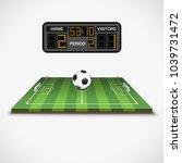 soccer football field with ball ...   Shutterstock .eps vector #1039731472