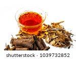 ayurvedic herb liquorice root... | Shutterstock . vector #1039732852