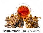 ayurvedic herb liquorice root... | Shutterstock . vector #1039732876