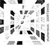 grunge halftone black and white ... | Shutterstock .eps vector #1039734436