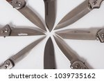 folding blade knife somewhat... | Shutterstock . vector #1039735162