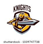 a colorful logo  a sticker  an... | Shutterstock .eps vector #1039747738