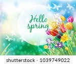 background with multicolor... | Shutterstock .eps vector #1039749022