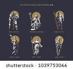 olympian gods and heroes. set 1 ...   Shutterstock .eps vector #1039753066