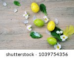 colorful handmade  eggs and...   Shutterstock . vector #1039754356