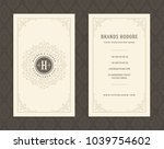luxury business card and... | Shutterstock .eps vector #1039754602