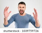 image of screaming angry... | Shutterstock . vector #1039759726