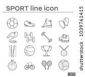 set of sport icon | Shutterstock .eps vector #1039761415