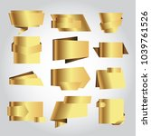 set of golden vector banner.   Shutterstock .eps vector #1039761526