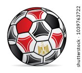 soccer ball with the colors of... | Shutterstock .eps vector #1039763722