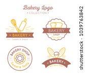 bakery shop logo  badges  label ... | Shutterstock .eps vector #1039763842