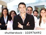 group of successful business... | Shutterstock . vector #103976492
