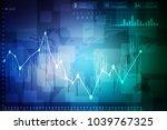 2d rendering stock market... | Shutterstock . vector #1039767325