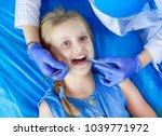 little girl sitting in the...   Shutterstock . vector #1039771972