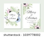 wedding background with hand... | Shutterstock .eps vector #1039778002