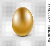 golden egg isolated transparent ... | Shutterstock . vector #1039778386