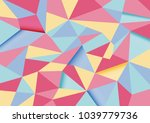 colorful abstract polygon... | Shutterstock .eps vector #1039779736