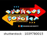 business abstract concept on... | Shutterstock .eps vector #1039780015