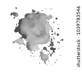 gray watercolor spot with... | Shutterstock .eps vector #1039783546
