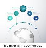 swot    strengths weaknesses... | Shutterstock .eps vector #1039785982