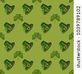 clover leaf hand drawn doodle...   Shutterstock .eps vector #1039789102