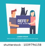 refer and earn vector... | Shutterstock .eps vector #1039796158