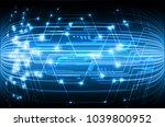 binary circuit board future... | Shutterstock .eps vector #1039800952