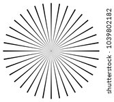 black radial  radiating lines... | Shutterstock .eps vector #1039802182