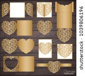 laser or die cut invitation... | Shutterstock .eps vector #1039806196