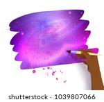 vector illustration of scribble ... | Shutterstock .eps vector #1039807066