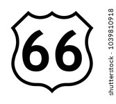 us route 66 sign  black and... | Shutterstock .eps vector #1039810918