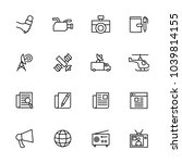 line icon set related to news   ... | Shutterstock .eps vector #1039814155