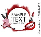 beautiful cosmetic promotion... | Shutterstock . vector #1039816492