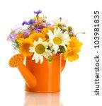 beautiful bouquet of bright ... | Shutterstock . vector #103981835