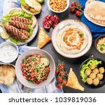 selection of arabic food.... | Shutterstock . vector #1039819036