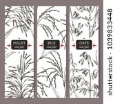 set of three labels with asian...   Shutterstock .eps vector #1039833448