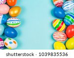 Easter Eggs Under The Blue...