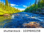 forest river water close up...   Shutterstock . vector #1039840258