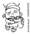 sketch of a small monster... | Shutterstock .eps vector #1039844395