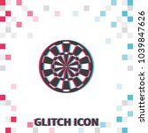 target for darts  glitch effect ... | Shutterstock .eps vector #1039847626