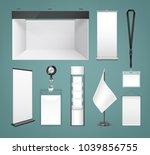 vector template of white blank... | Shutterstock .eps vector #1039856755