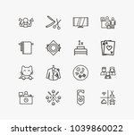 hotel service icon set and dry...