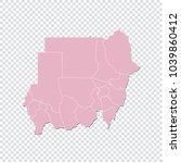 sudan map   high detailed... | Shutterstock .eps vector #1039860412