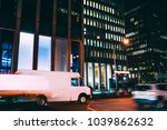 truck of logistic shipping... | Shutterstock . vector #1039862632