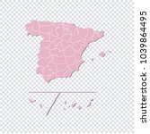 spain provinces map   high... | Shutterstock .eps vector #1039864495