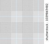 glen plaid pattern in classic... | Shutterstock .eps vector #1039865482