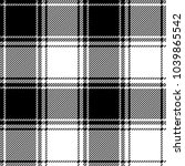Plaid Check Patten In Black An...
