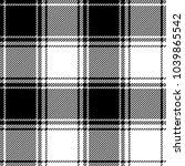 Plaid Check Pattern In Black...