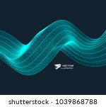 wavy background with motion... | Shutterstock .eps vector #1039868788